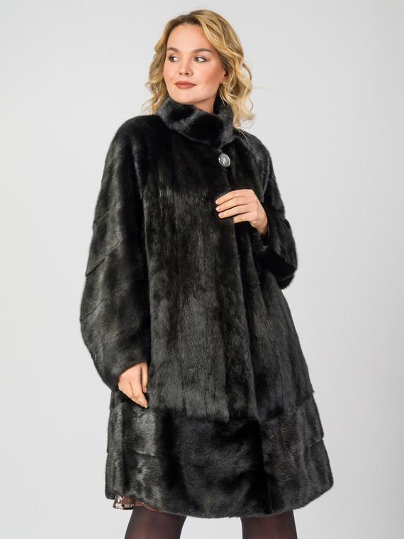 Шуба из норки мех норка, цвет черный, арт. 18007082  - цена 67990 руб.  - магазин TOTOGROUP