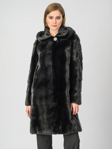 Шуба из норки мех норка, цвет черный, арт. 18007085  - цена 112990 руб.  - магазин TOTOGROUP