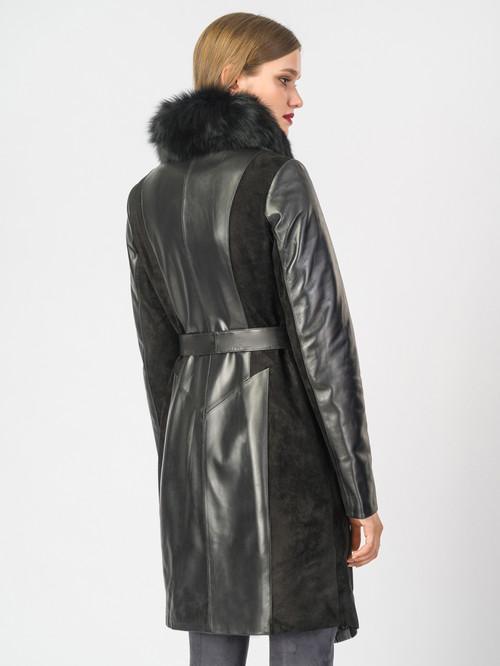 Кожаное пальто артикул 18007096/42 - фото 3