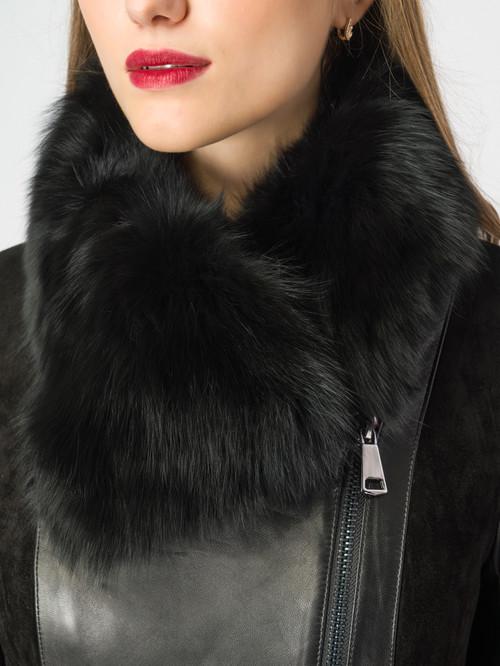 Кожаное пальто артикул 18007096/42 - фото 4