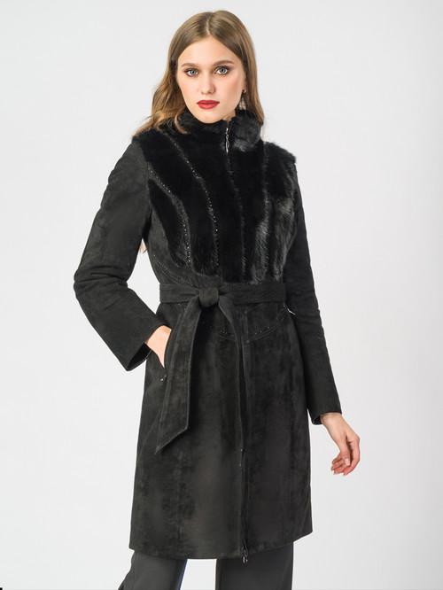 Кожаное пальто артикул 18007097/40 - фото 2