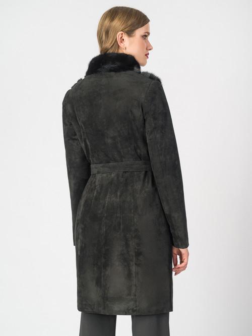 Кожаное пальто артикул 18007097/40 - фото 3