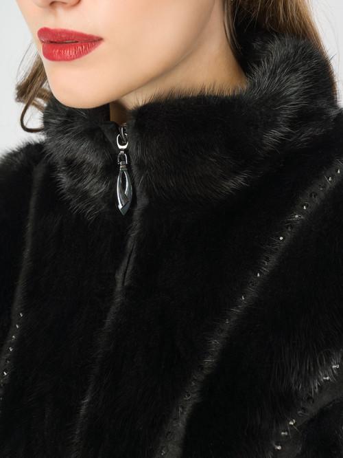 Кожаное пальто артикул 18007097/40 - фото 4