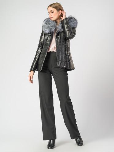 Кожаная куртка кожа , цвет черный металлик, арт. 18007101  - цена 18990 руб.  - магазин TOTOGROUP