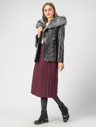 Кожаная куртка кожа , цвет черный металлик, арт. 18007102  - цена 18990 руб.  - магазин TOTOGROUP