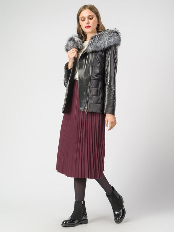 Кожаная куртка кожа , цвет черный металлик, арт. 18007102  - цена 14190 руб.  - магазин TOTOGROUP