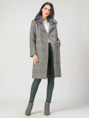 Текстильное пальто 30%шерсть, 70% п\а, цвет черный, арт. 18007105  - цена 5890 руб.  - магазин TOTOGROUP