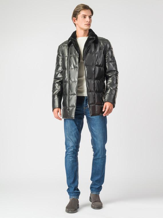 Кожаная куртка кожа , цвет черный, арт. 18007116  - цена 17990 руб.  - магазин TOTOGROUP