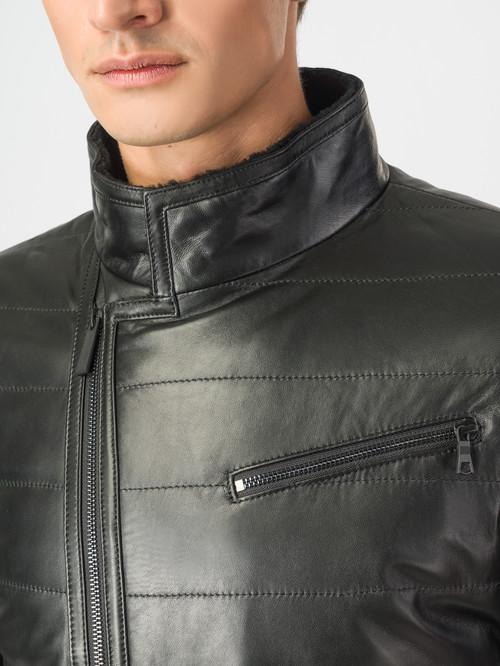 Кожаная куртка артикул 18007119/48 - фото 4