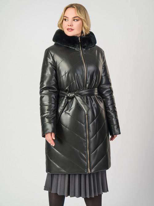 Кожаное пальто артикул 18007124/48 - фото 2
