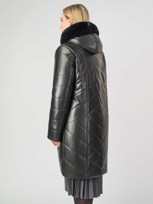 Кожаное пальто артикул 18007124/48 - фото 3