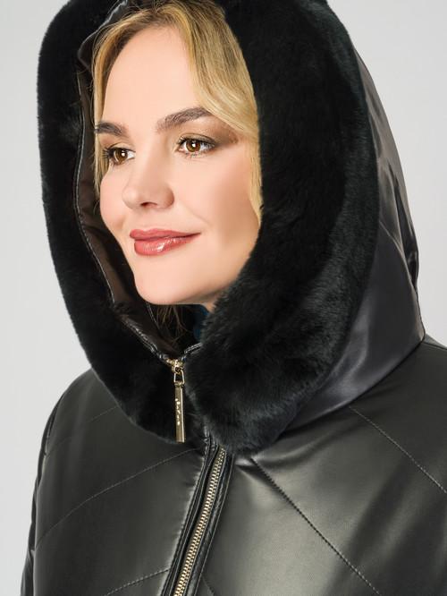 Кожаное пальто артикул 18007124/48 - фото 4