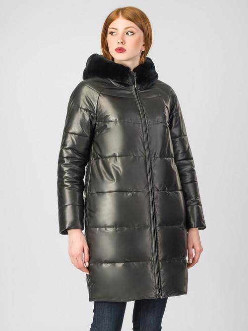 Кожаное пальто артикул 18007128/44 - фото 2