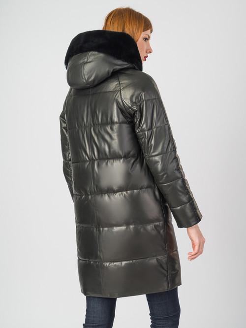 Кожаное пальто артикул 18007128/44 - фото 3