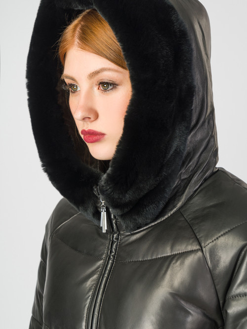 Кожаное пальто артикул 18007128/44 - фото 4