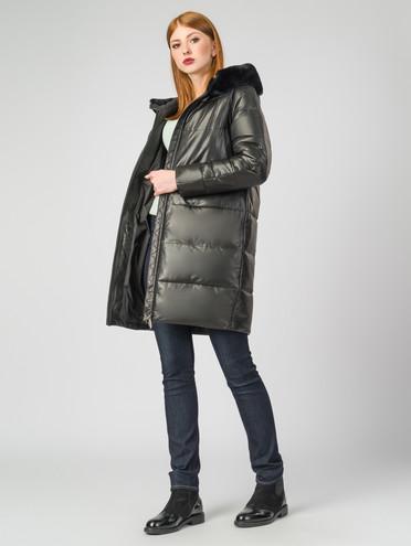 Кожаное пальто кожа , цвет черный металлик, арт. 18007128  - цена 22690 руб.  - магазин TOTOGROUP