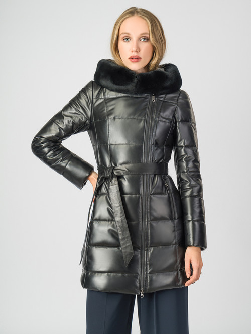 Кожаное пальто артикул 18007130/44 - фото 2