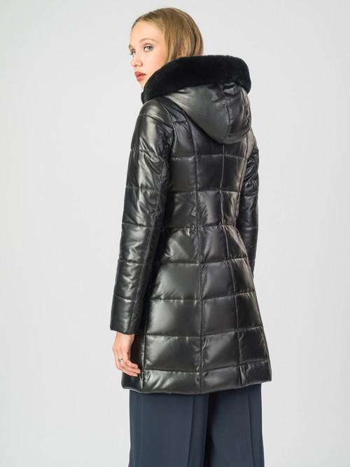 Кожаное пальто артикул 18007130/44 - фото 3