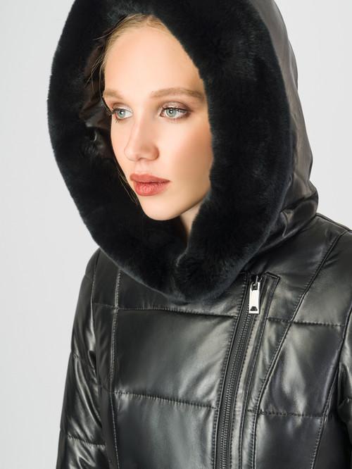 Кожаное пальто артикул 18007130/44 - фото 4