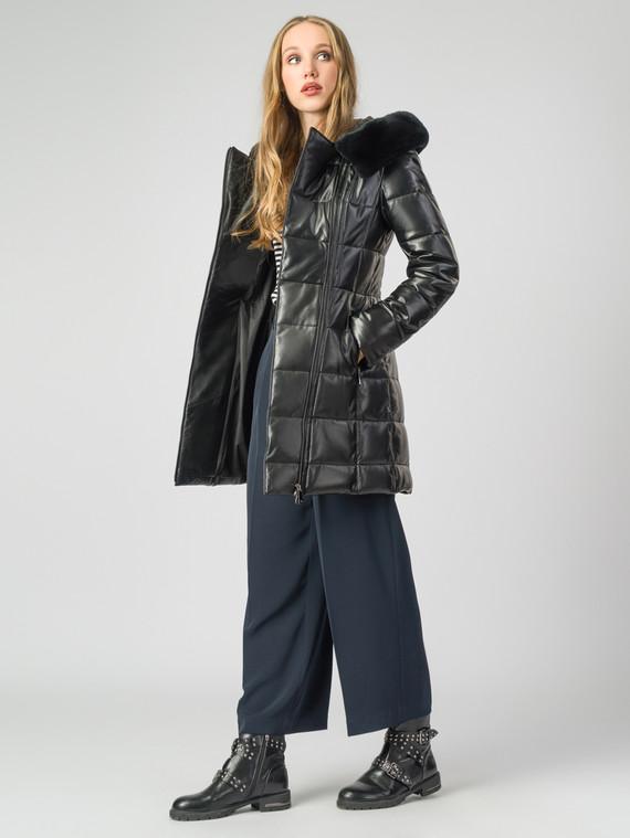 Кожаное пальто кожа , цвет черный металлик, арт. 18007130  - цена 19990 руб.  - магазин TOTOGROUP