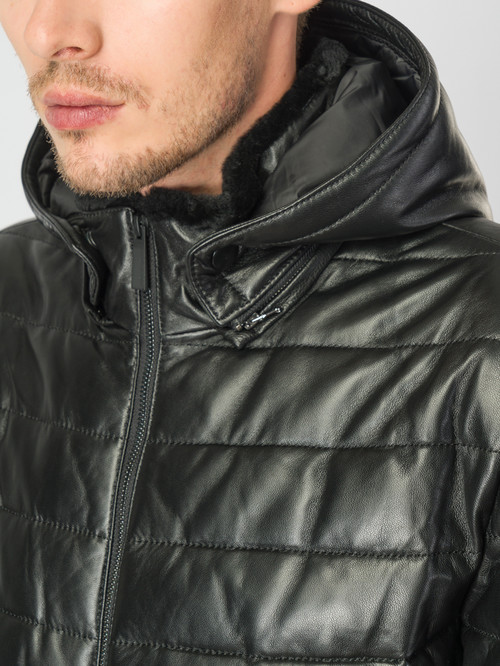 Кожаная куртка артикул 18007173/48 - фото 4