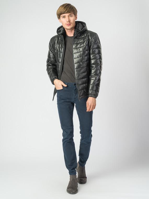 Кожаная куртка кожа, цвет черный, арт. 18007173  - цена 16990 руб.  - магазин TOTOGROUP