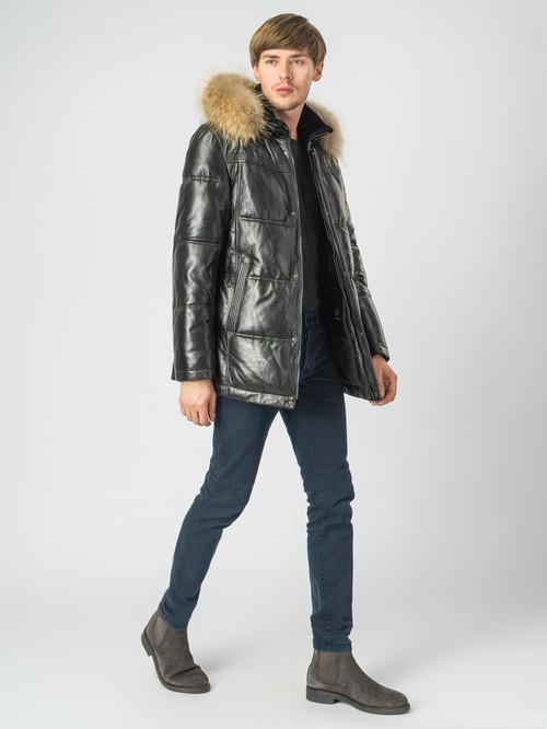 Кожаная куртка артикул 18007174/48 - фото 2