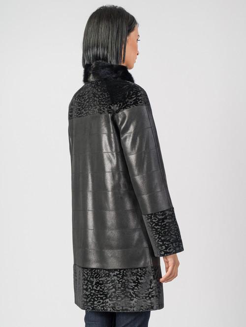 Кожаное пальто артикул 18007182/42 - фото 3