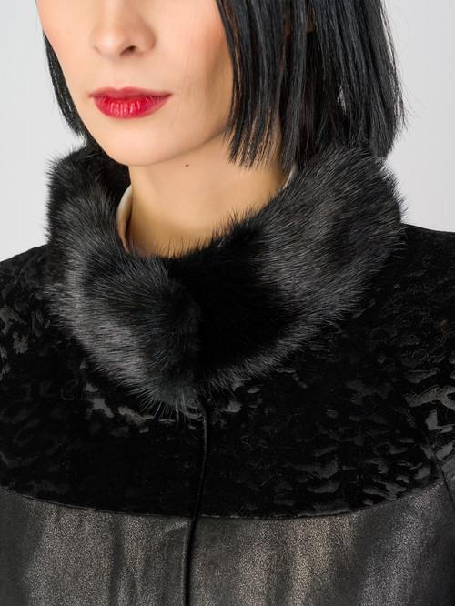 Кожаное пальто артикул 18007182/42 - фото 4