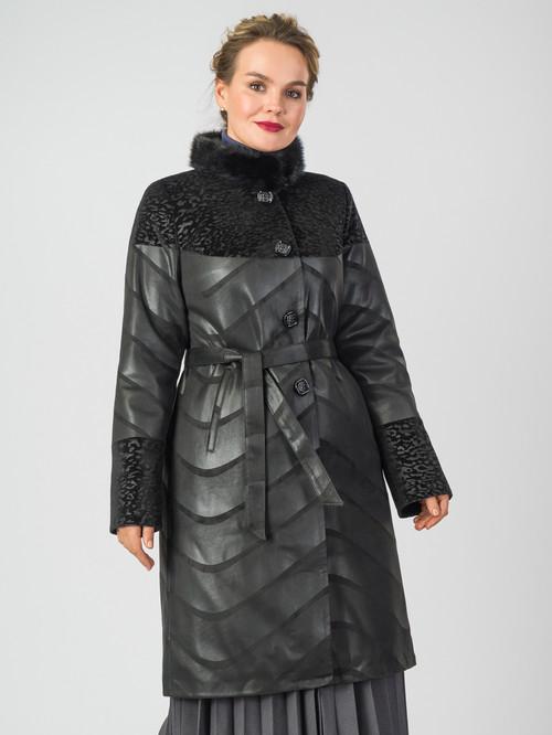 Кожаное пальто артикул 18007184/48 - фото 2