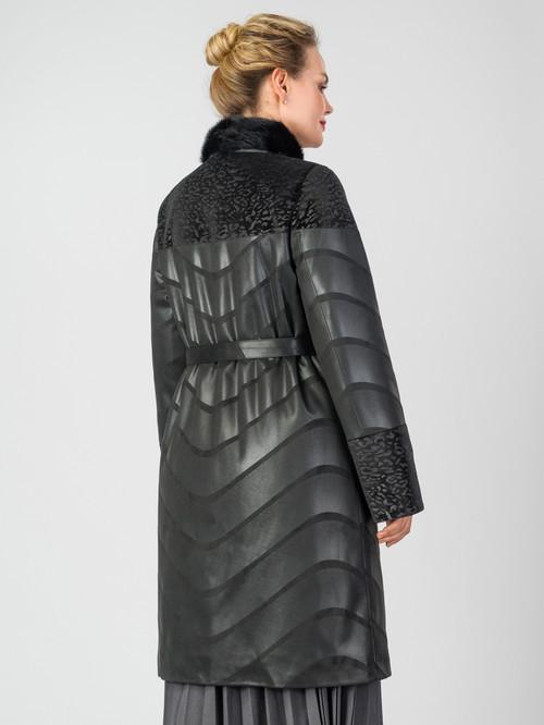 Кожаное пальто артикул 18007184/48 - фото 3
