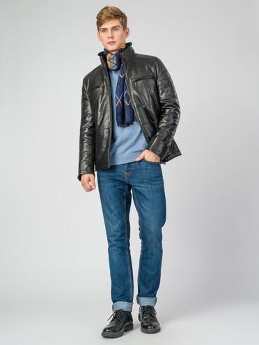 Кожаная куртка кожа , цвет черный, арт. 18007210  - цена 16990 руб.  - магазин TOTOGROUP