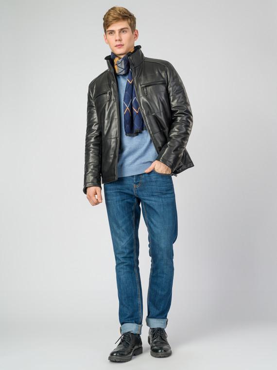 Кожаная куртка кожа , цвет черный, арт. 18007210  - цена 22690 руб.  - магазин TOTOGROUP