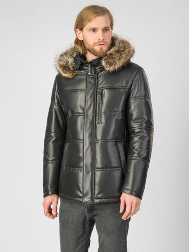 Кожаная куртка кожа , цвет черный, арт. 18007211  - цена 23990 руб.  - магазин TOTOGROUP