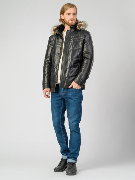 Кожаная куртка кожа , цвет черный, арт. 18007211  - цена 14990 руб.  - магазин TOTOGROUP