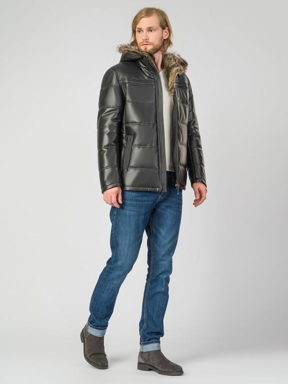 Кожаная куртка кожа , цвет черный, арт. 18007212  - цена 18990 руб.  - магазин TOTOGROUP