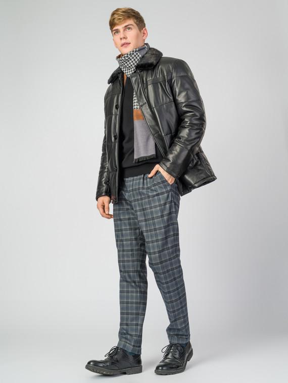 Кожаная куртка кожа, цвет черный, арт. 18007213  - цена 16990 руб.  - магазин TOTOGROUP