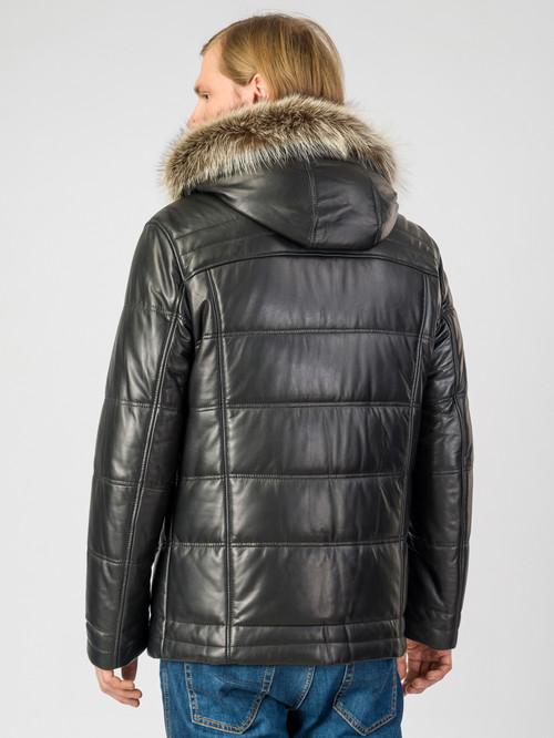 Кожаная куртка артикул 18007214/48 - фото 3