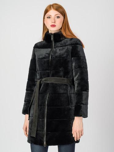 Шуба из мутона мех мутон, цвет черный, арт. 18007220  - цена 22690 руб.  - магазин TOTOGROUP