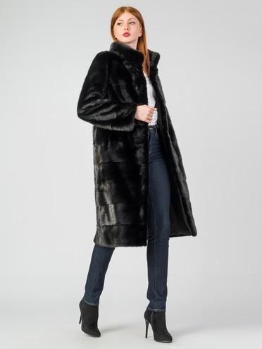 Шуба из норки мех норка, цвет черный, арт. 18007232  - цена 94990 руб.  - магазин TOTOGROUP