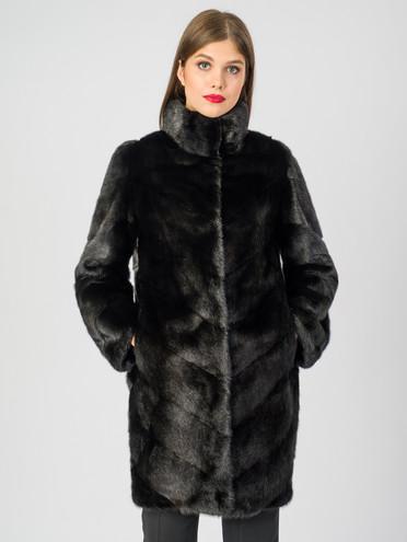 Шуба из норки мех норка, цвет черный, арт. 18007234  - цена 75990 руб.  - магазин TOTOGROUP