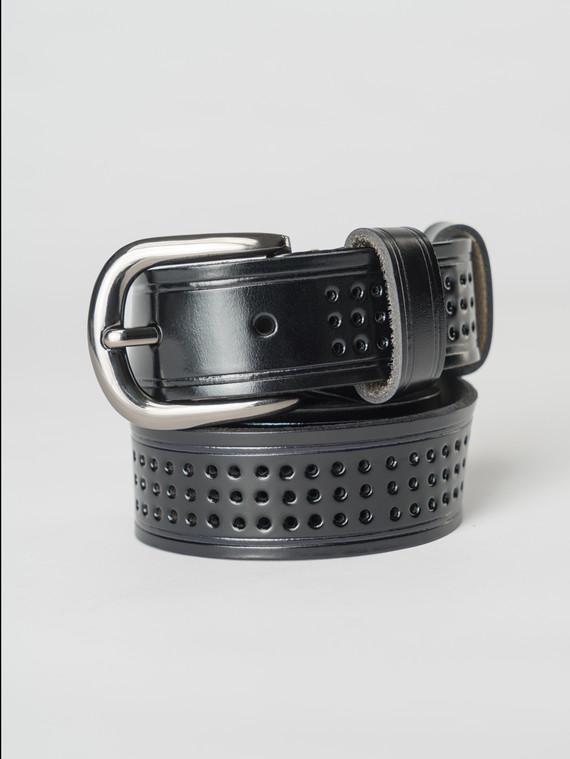 Ремень кожа теленок, цвет черный, арт. 18007249  - цена 990 руб.  - магазин TOTOGROUP