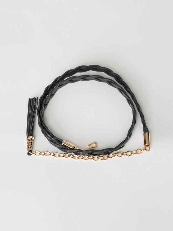 Ремень кожа теленок, цвет черный, арт. 18007252  - цена 990 руб.  - магазин TOTOGROUP