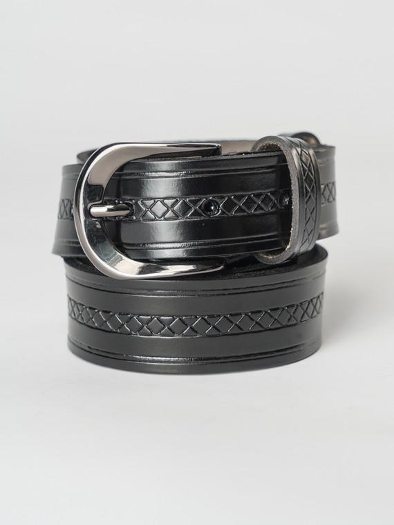Ремень кожа теленок, цвет черный, арт. 18007253  - цена 1190 руб.  - магазин TOTOGROUP