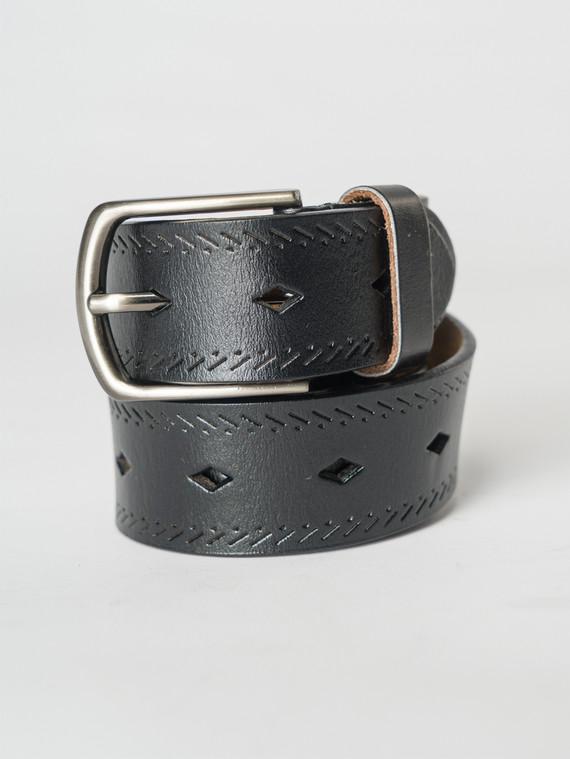 Ремень кожа теленок, цвет черный, арт. 18007259  - цена 990 руб.  - магазин TOTOGROUP