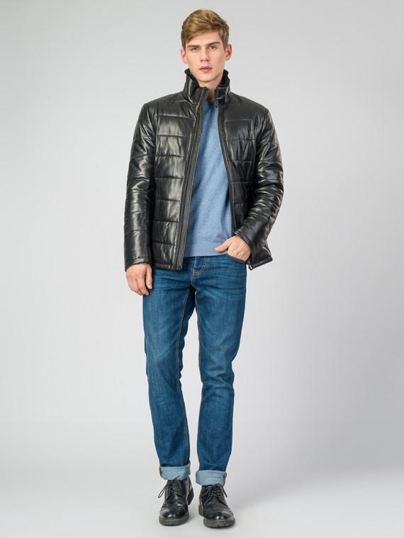 Кожаная куртка кожа , цвет черный, арт. 18007264  - цена 16990 руб.  - магазин TOTOGROUP