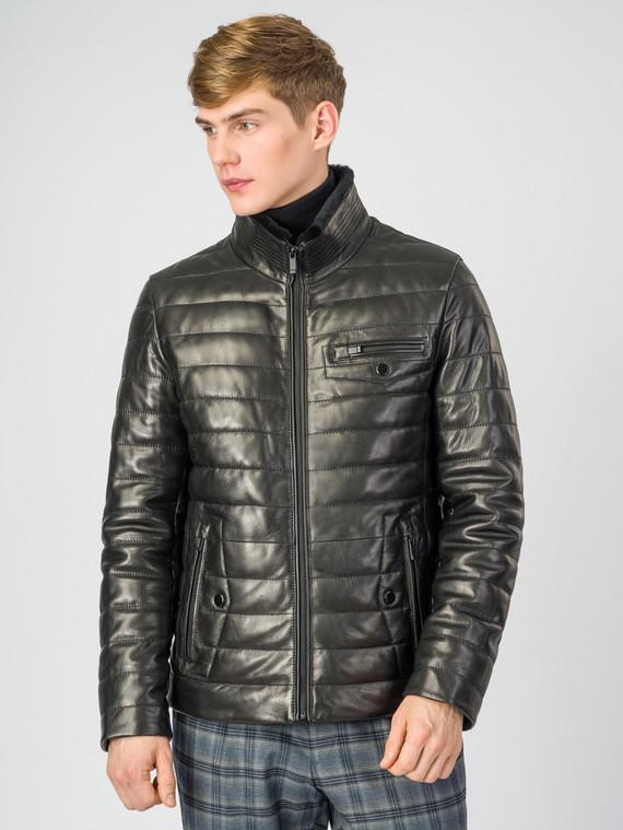Кожаная куртка кожа , цвет черный, арт. 18007265  - цена 23990 руб.  - магазин TOTOGROUP