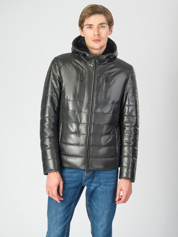 Кожаная куртка кожа , цвет черный, арт. 18007267  - цена 19990 руб.  - магазин TOTOGROUP