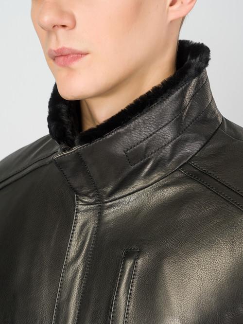 Кожаная куртка артикул 18007271/48 - фото 4