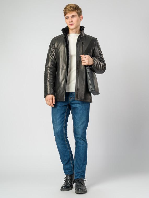 Кожаная куртка кожа , цвет черный, арт. 18007271  - цена 29990 руб.  - магазин TOTOGROUP